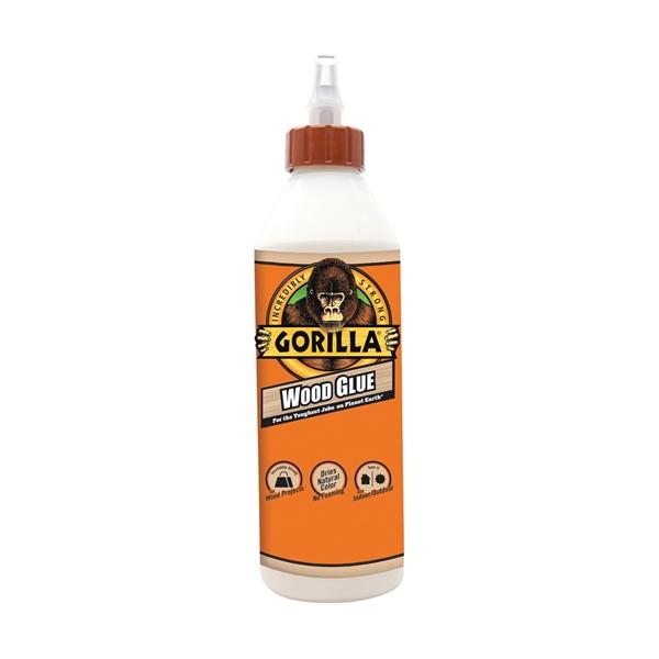 Picture of Gorilla 6205001 Wood Glue, Light Tan, 18 oz Package, Bottle