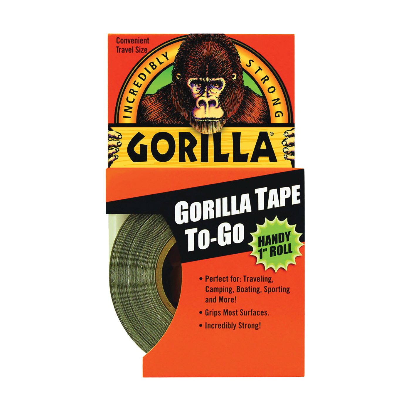 Picture of Gorilla 6100109 Duct Tape, 30 yd L, 1 in W, Black