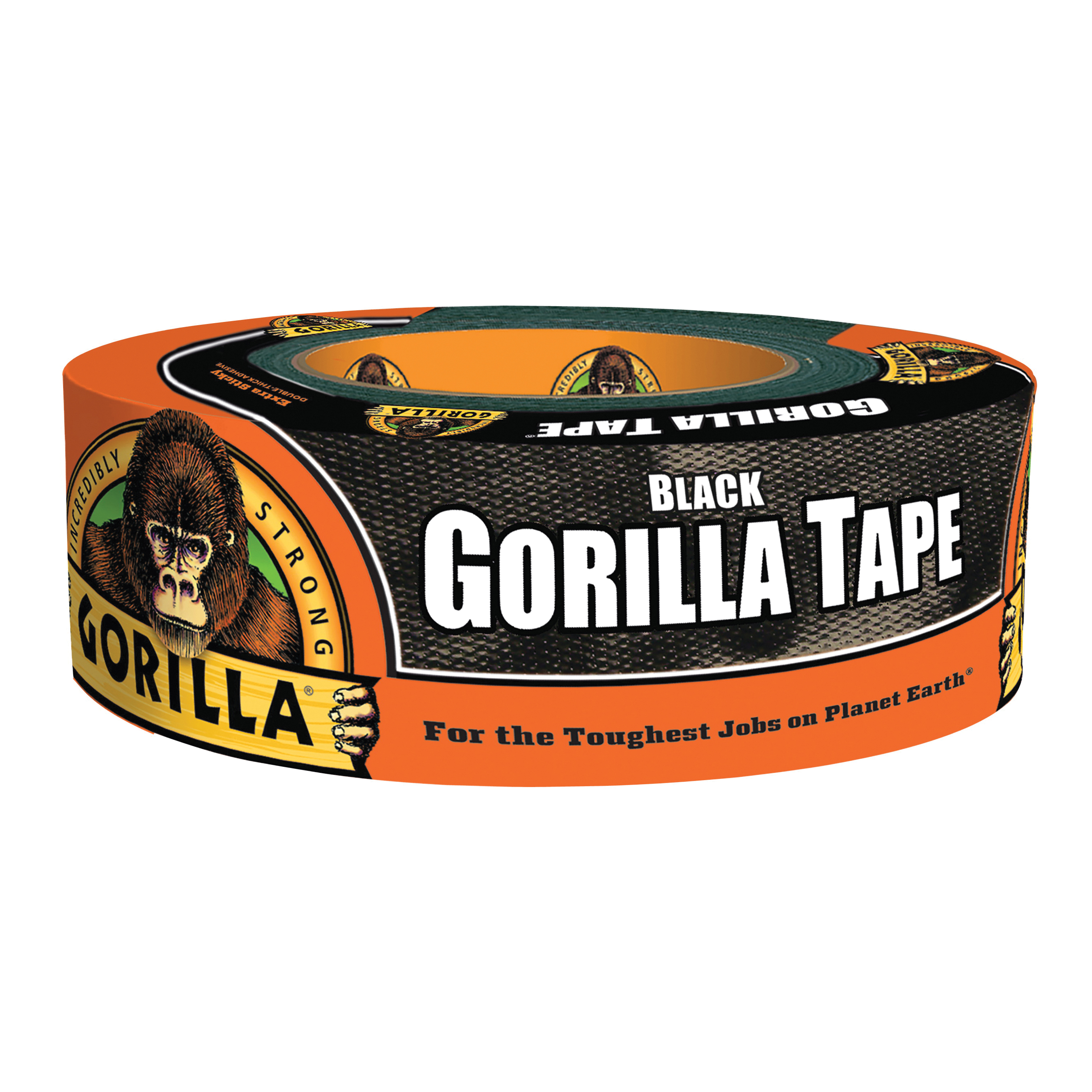 Picture of Gorilla 6035060 Duct Tape, 35 yd L, 2 in W, Black