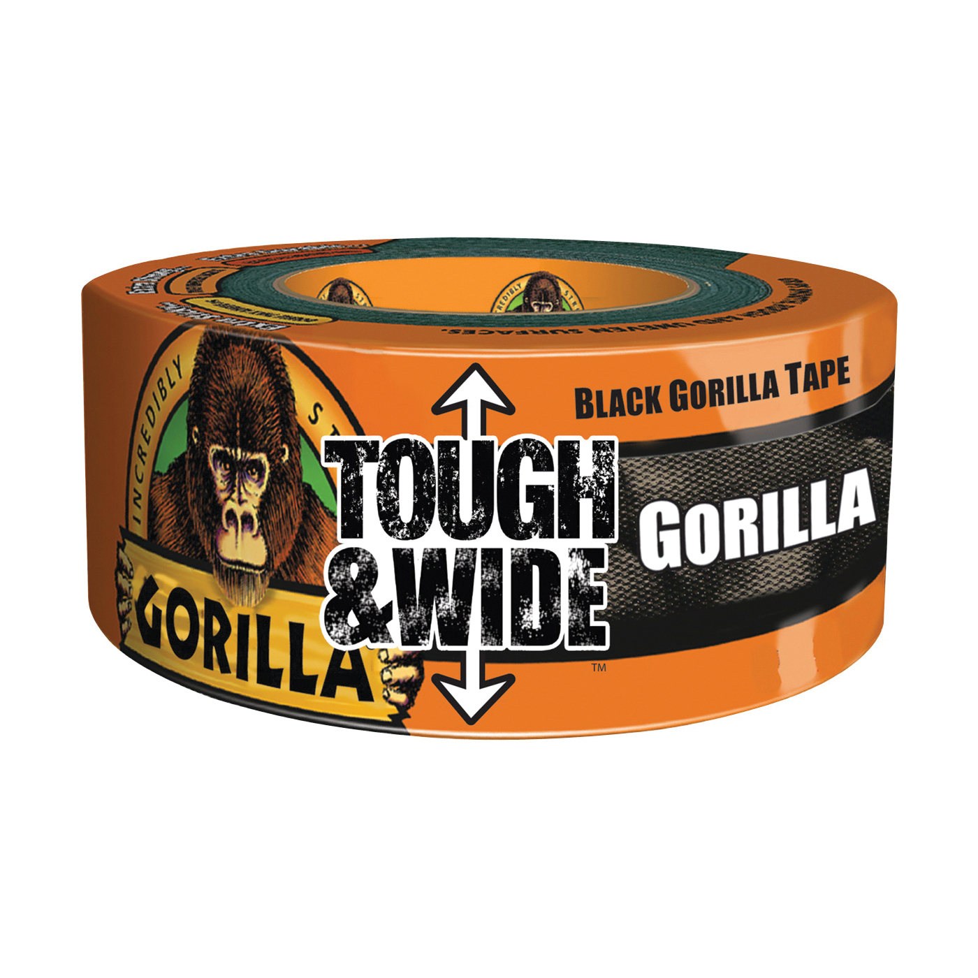 Picture of Gorilla 6003001 Duct Tape, 30 yd L, 3 in W, Cotton/Polymer Backing, Black