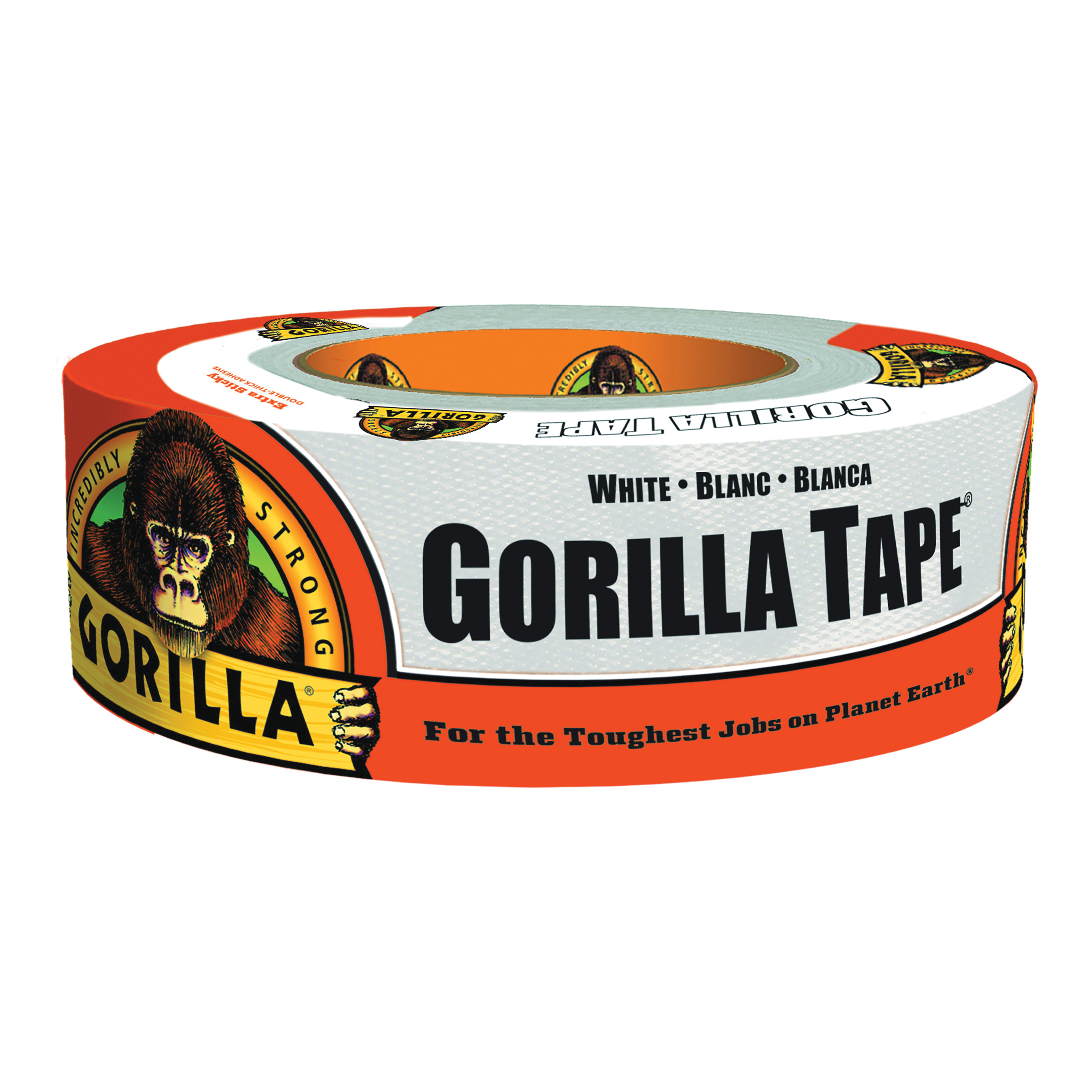Picture of Gorilla 6025001 Duct Tape, 30 yd L, 2 in W, Cloth Backing, White