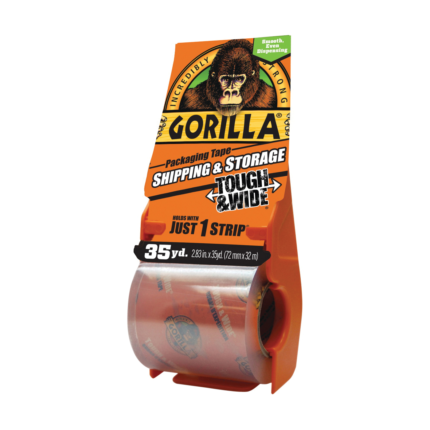 Picture of Gorilla 6045002 Packaging Tape, 35 yd L, 2.83 in W, Crystal Clear