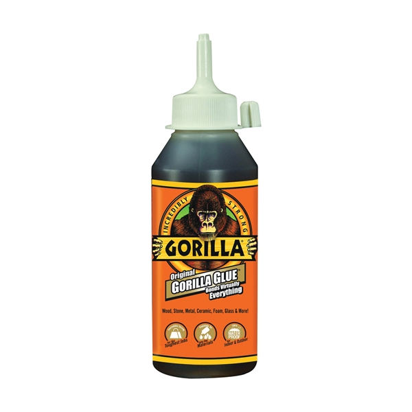 Picture of Gorilla 5000806 Glue, Brown, 8 oz Package, Bottle