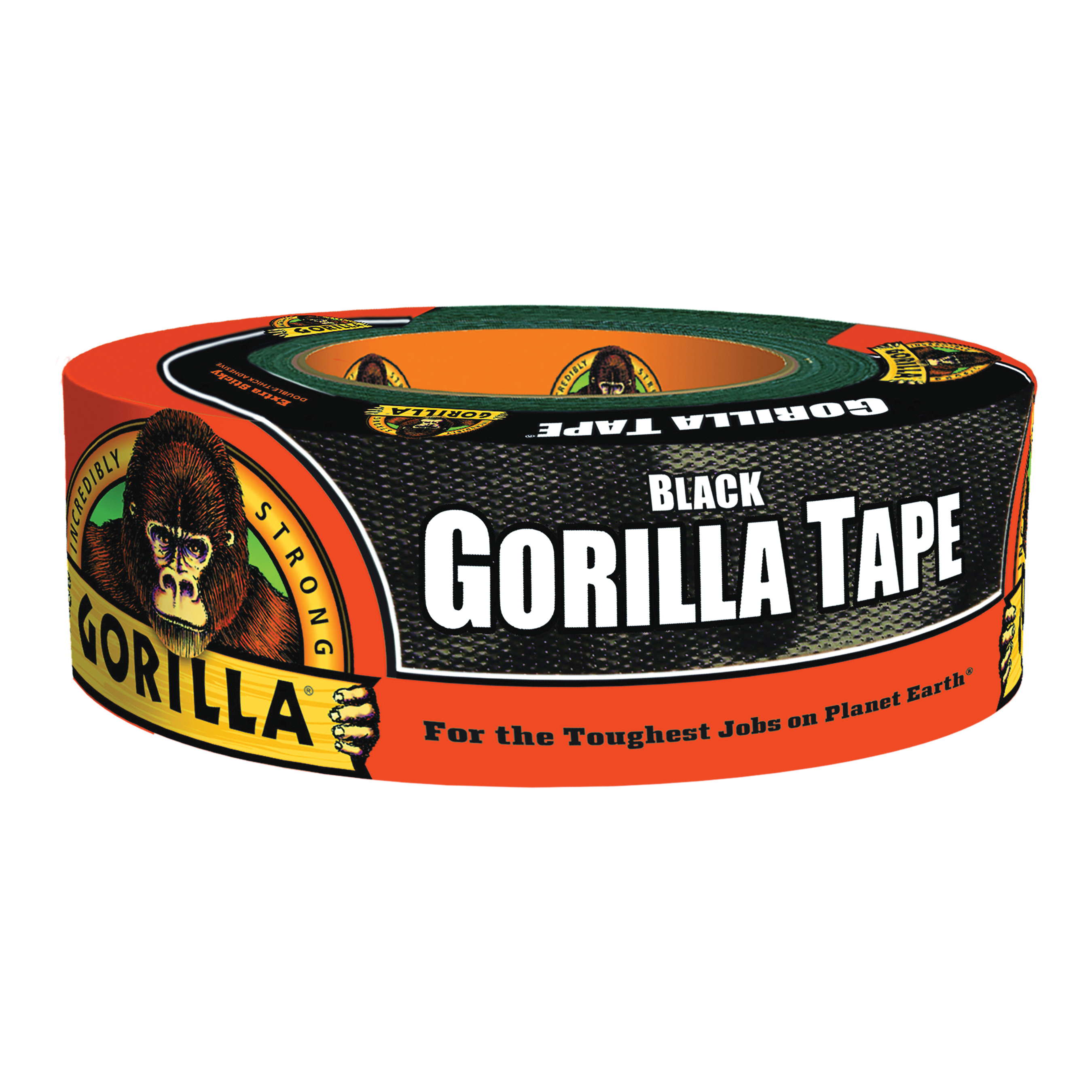 Picture of Gorilla 60124 Duct Tape, 12 yd L, 2 in W, Black
