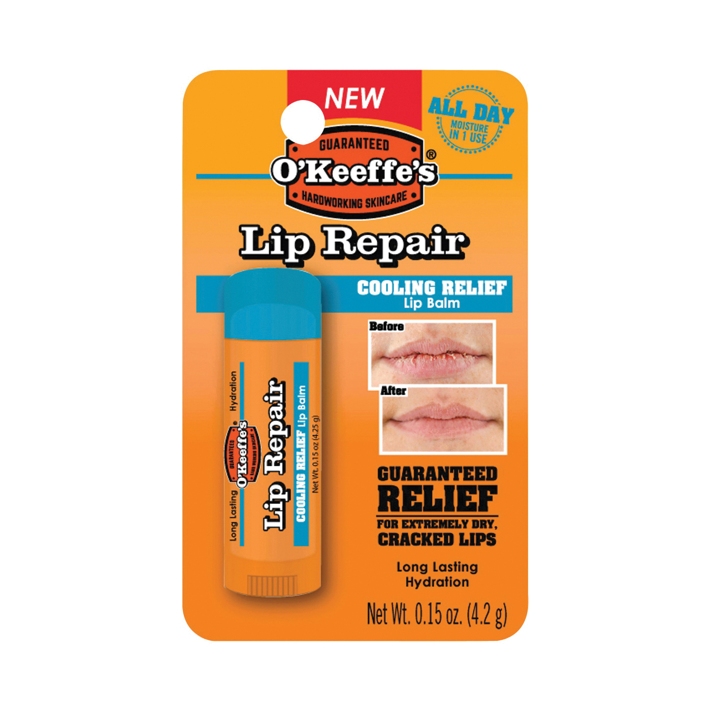 Picture of O'KEEFFE'S Lip Repair K0710108 Lip Balm, 0.15 oz Package