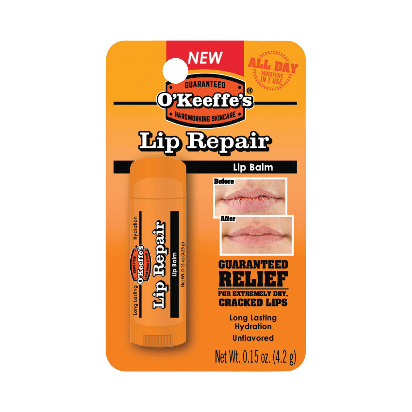 Picture of O'KEEFFE'S Lip Repair K0700108 Lip Balm, 0.15 oz Package