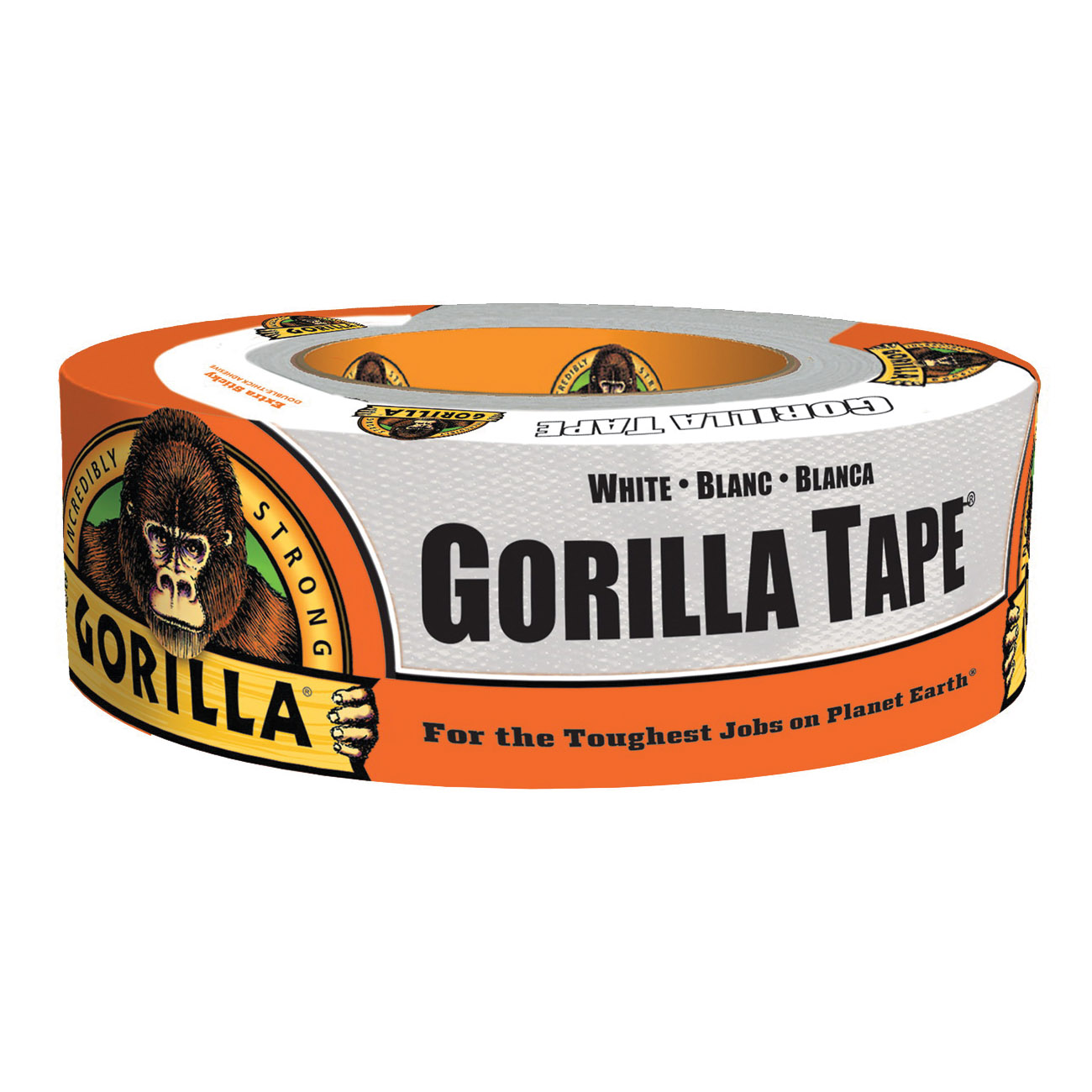 Picture of Gorilla 6010002 Duct Tape, 10 yd L, 1.88 in W, White