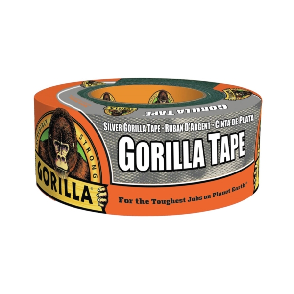 Picture of Gorilla 6071202 Duct Tape, 12 yd L, 1.88 in W, Silver