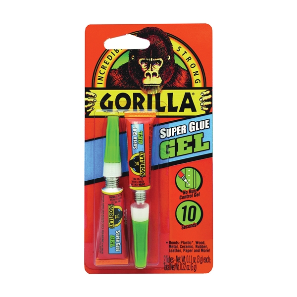Picture of Gorilla 7820002 Super Glue, Liquid, Irritating, Straw/White Water, 3 g Package, Tube