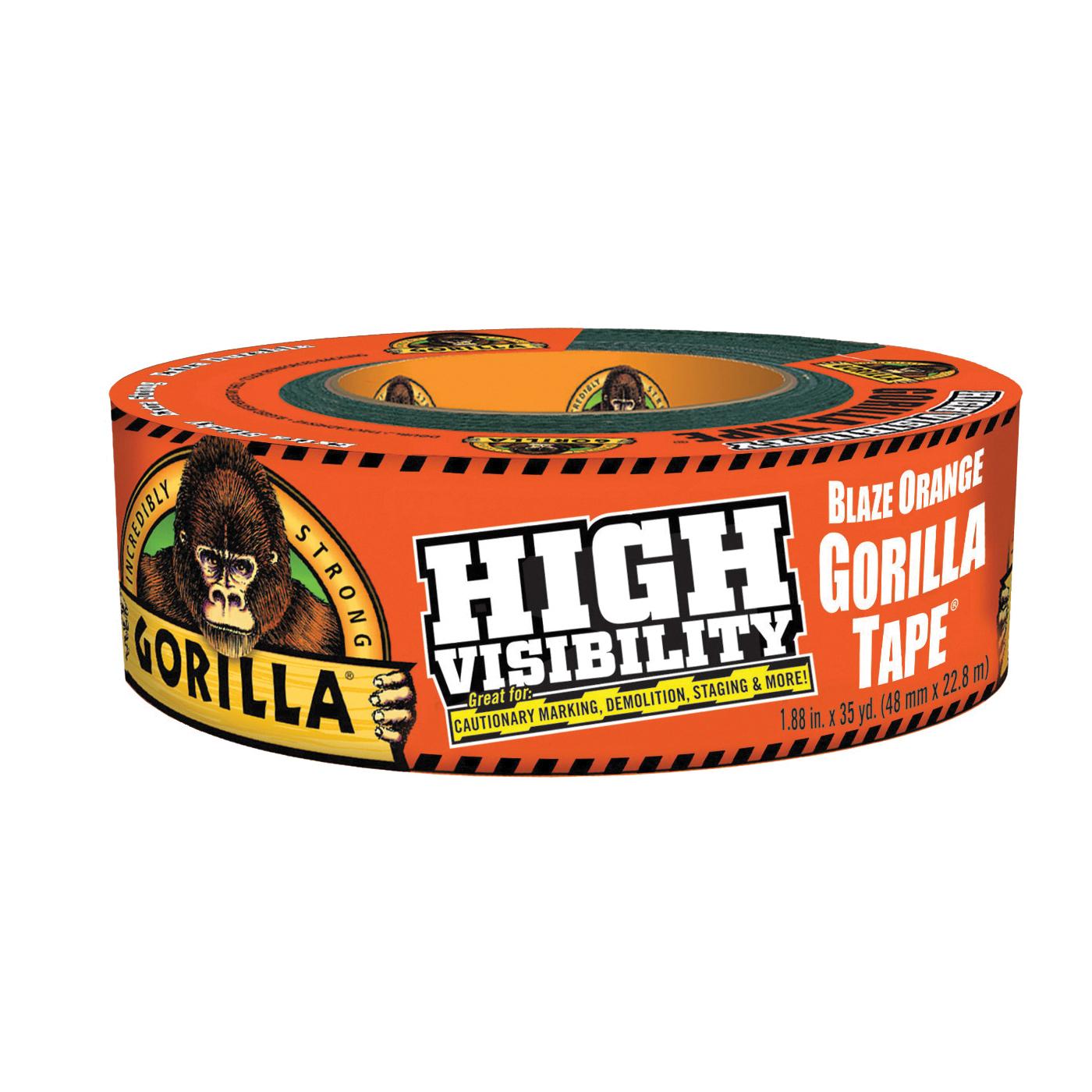 Picture of Gorilla 6004002 Duct Tape, 35 yd L, 1.88 in W, Fluorescent Orange
