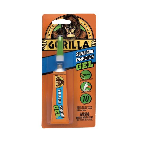 Picture of Gorilla 6802502 Super Glue Precise Gel, Clear, 15 g Package, Tube