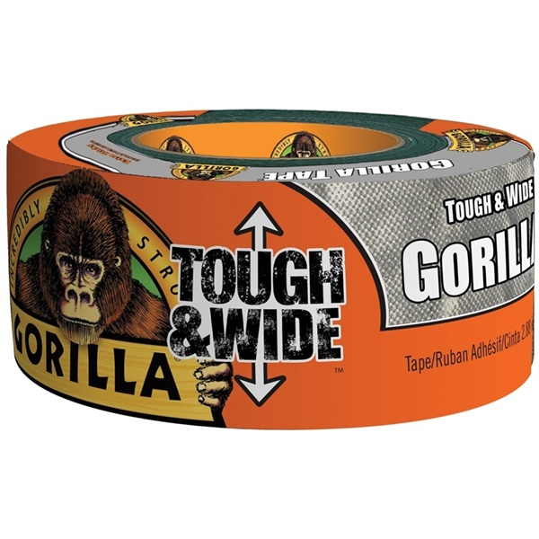 Picture of Gorilla 6073502 Duct Tape, 30 yd L, 2.88 in W, Silver