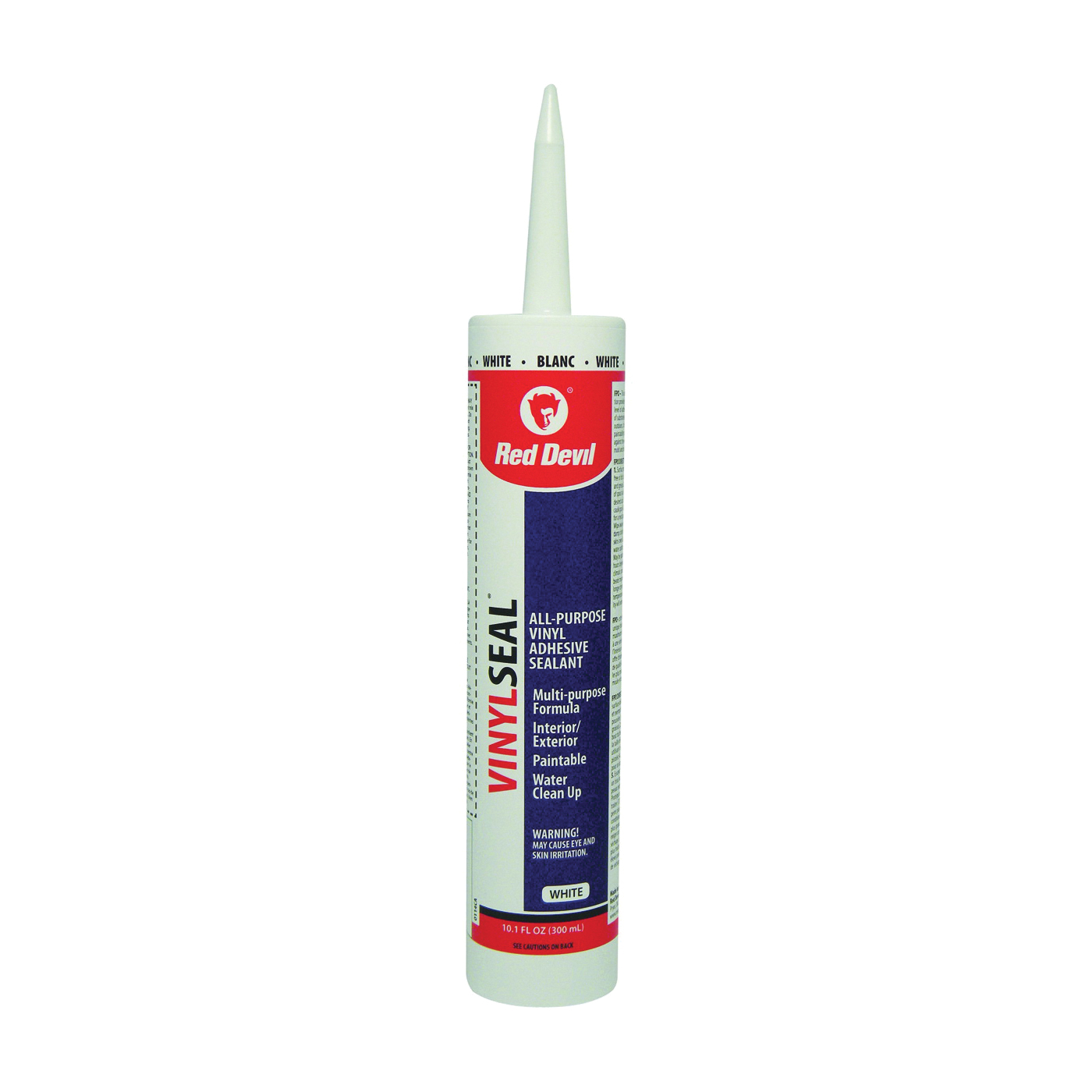 Picture of Red Devil Paint Master 0114CA Adhesive Caulk, White, 10.1 oz Package, Cartridge
