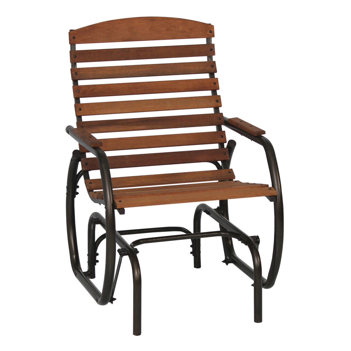 Picture of Seasonal Trends CG41Z Country Garden Glider, 29-1/2 in W, 24-1/2 in D, 37 in H, 250 lb Seating, Bronze Frame
