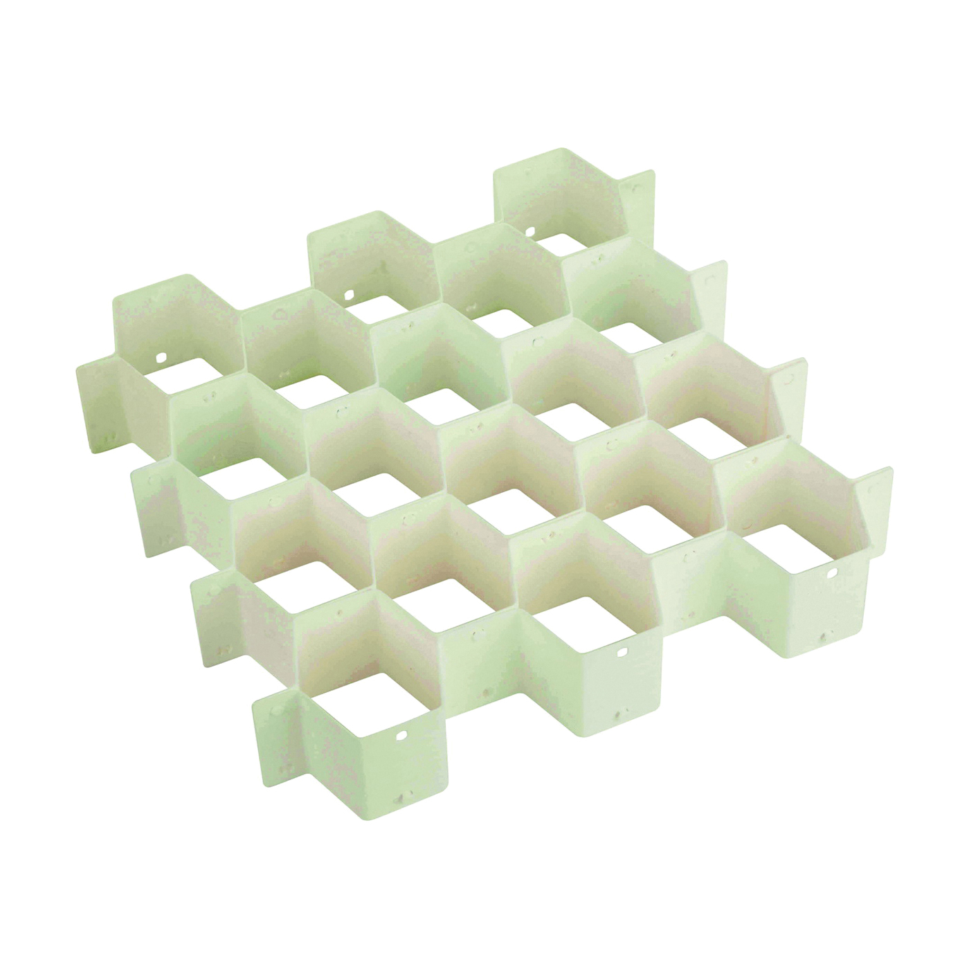 Picture of Honey-Can-Do SFT-01625 Drawer Organizer, 32-Compartment, Plastic, White