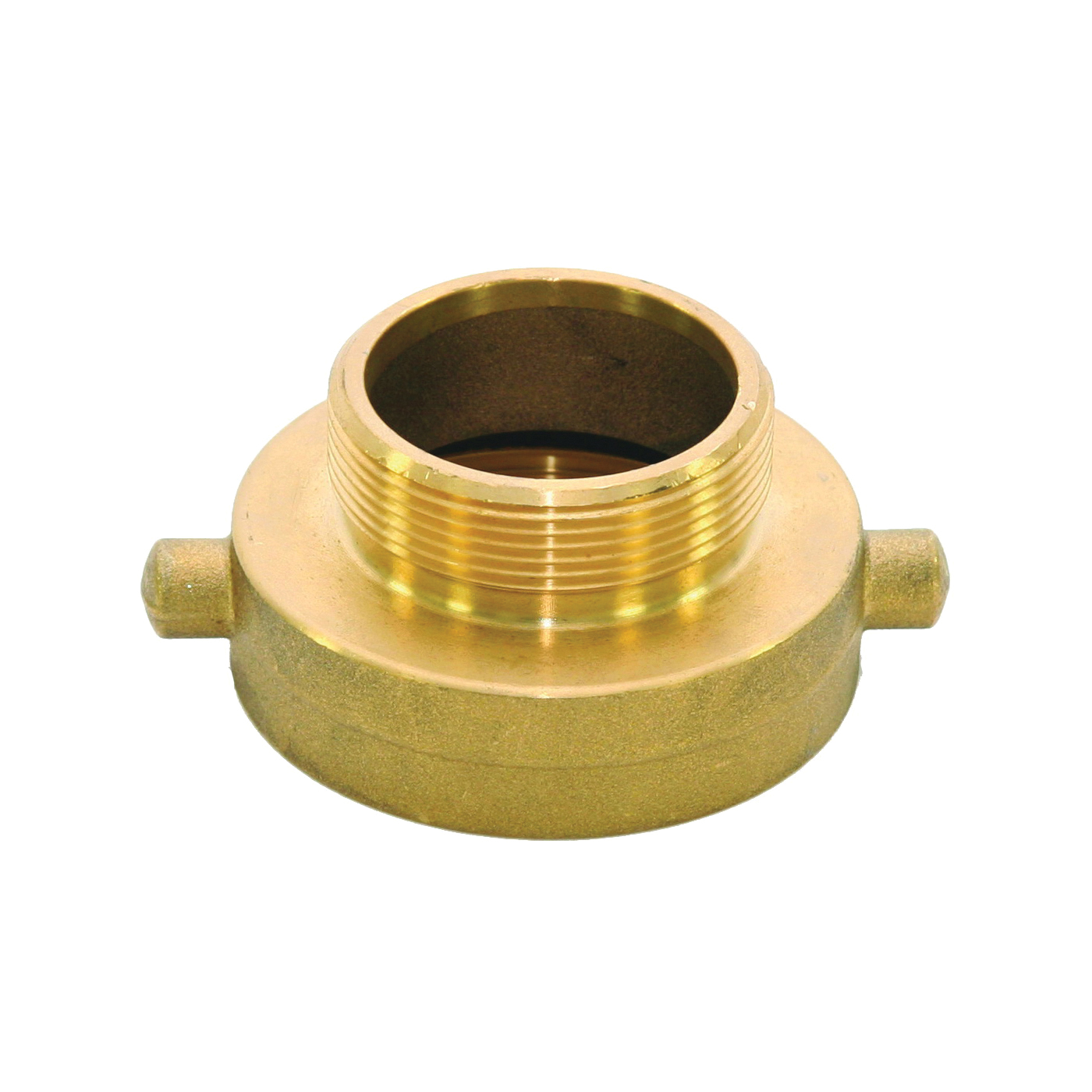 Picture of ABBOTT RUBBER JBHA-150 Hydrant Adapter, 2-1/2 x 1-1/2 in, NST x NPT, Brass