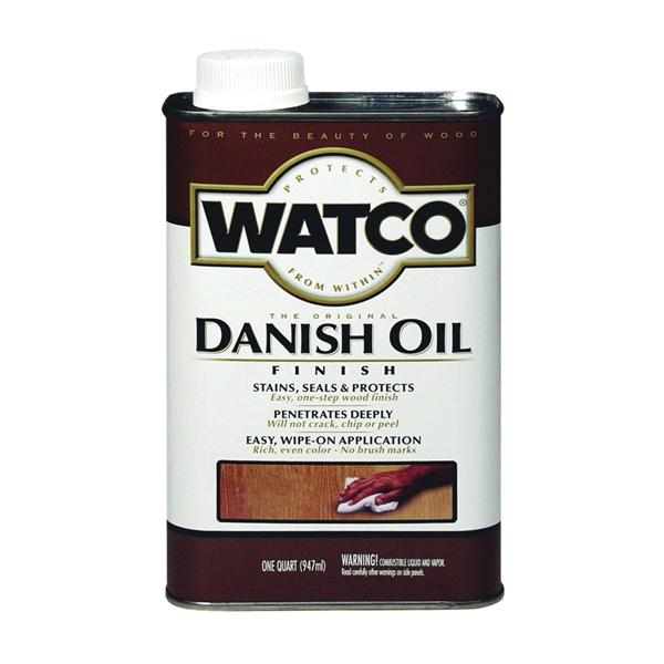 Picture of WATCO 65141 Danish Oil, Golden Oak, Liquid, 1 qt, Can