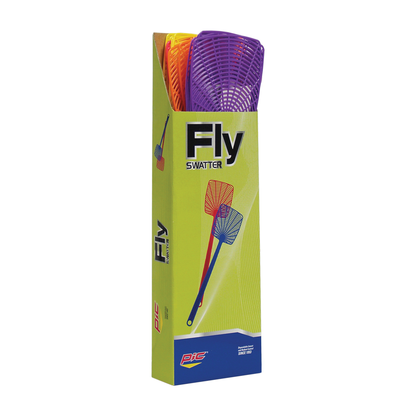 Picture of Pic 274 Fly Swatter, 5 in L Mesh, 3-1/2 in W Mesh, Plastic Mesh