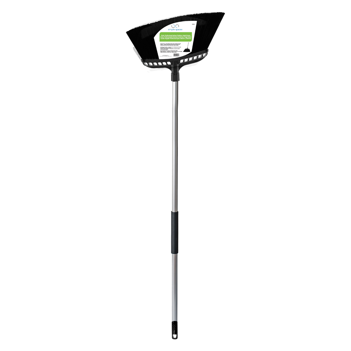 Picture of Simple Spaces 2032 Angle Broom, 11 in Sweep Face, Polypropylene Bristle, Steel Handle
