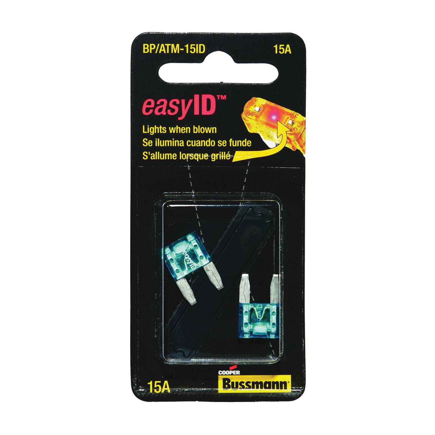 Picture of Bussmann BP/ATM-15ID Blade Fuse, 32 VDC, 15 A, 1 kA Interrupt