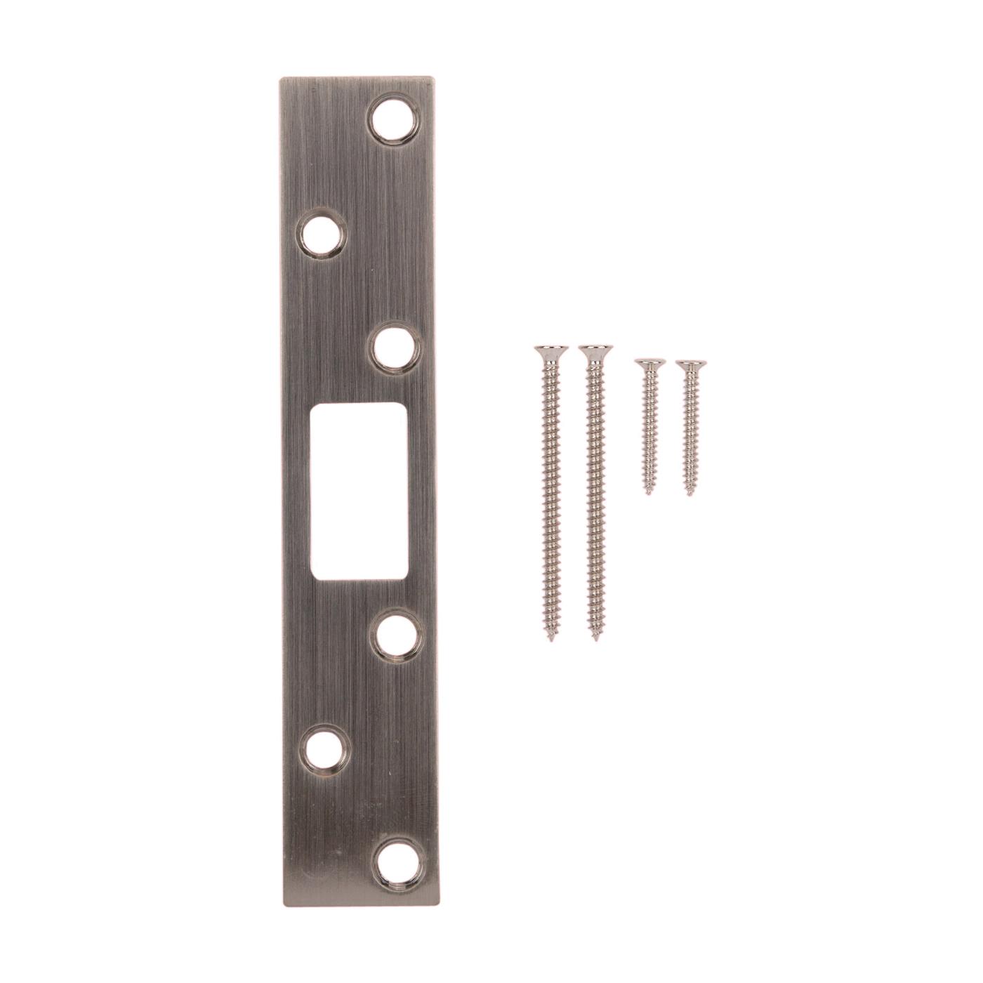 Picture of ProSource HSH-004BN-PS Security Door Latch Strike, Steel, Satin Nickel, 6 in H, 1-1/8 in W