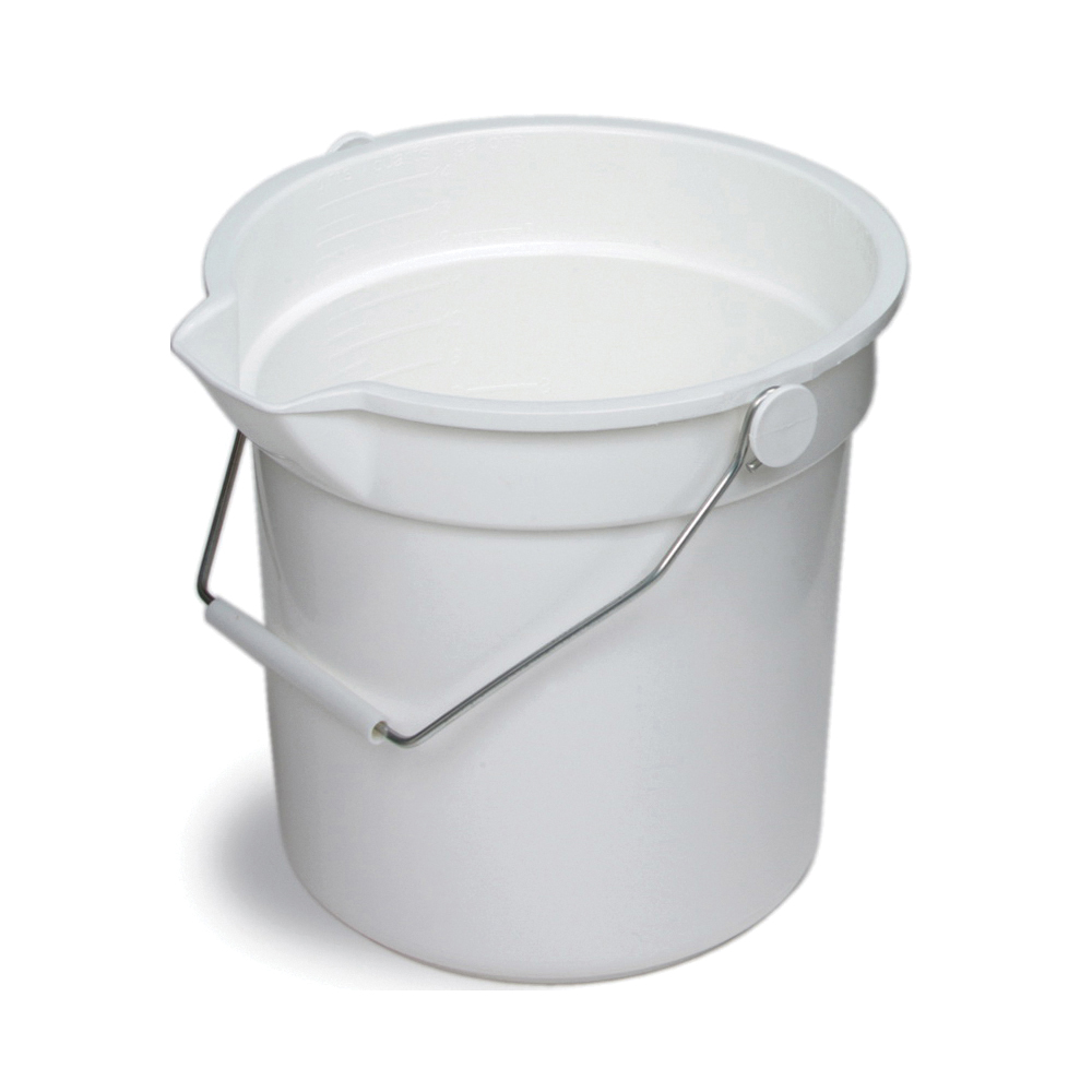 Picture of CONTINENTAL COMMERCIAL 8110WH Utility Bucket, 10 qt Capacity, 10-5/8 in Dia, Polyethylene, White