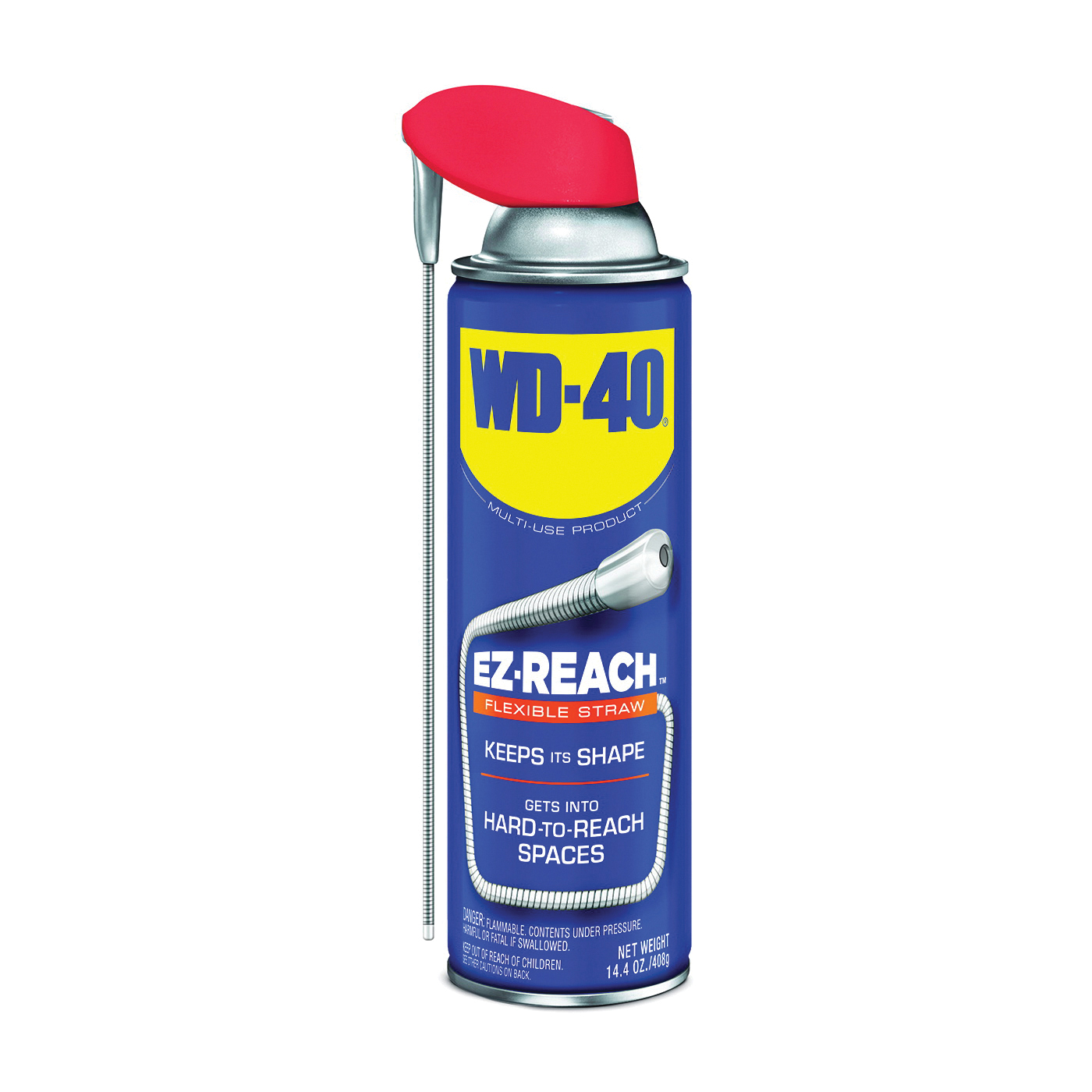 Picture of WD-40 EZ-REACH 490194 Lubricant, 14.4 oz Package, Aerosol Can, Liquid