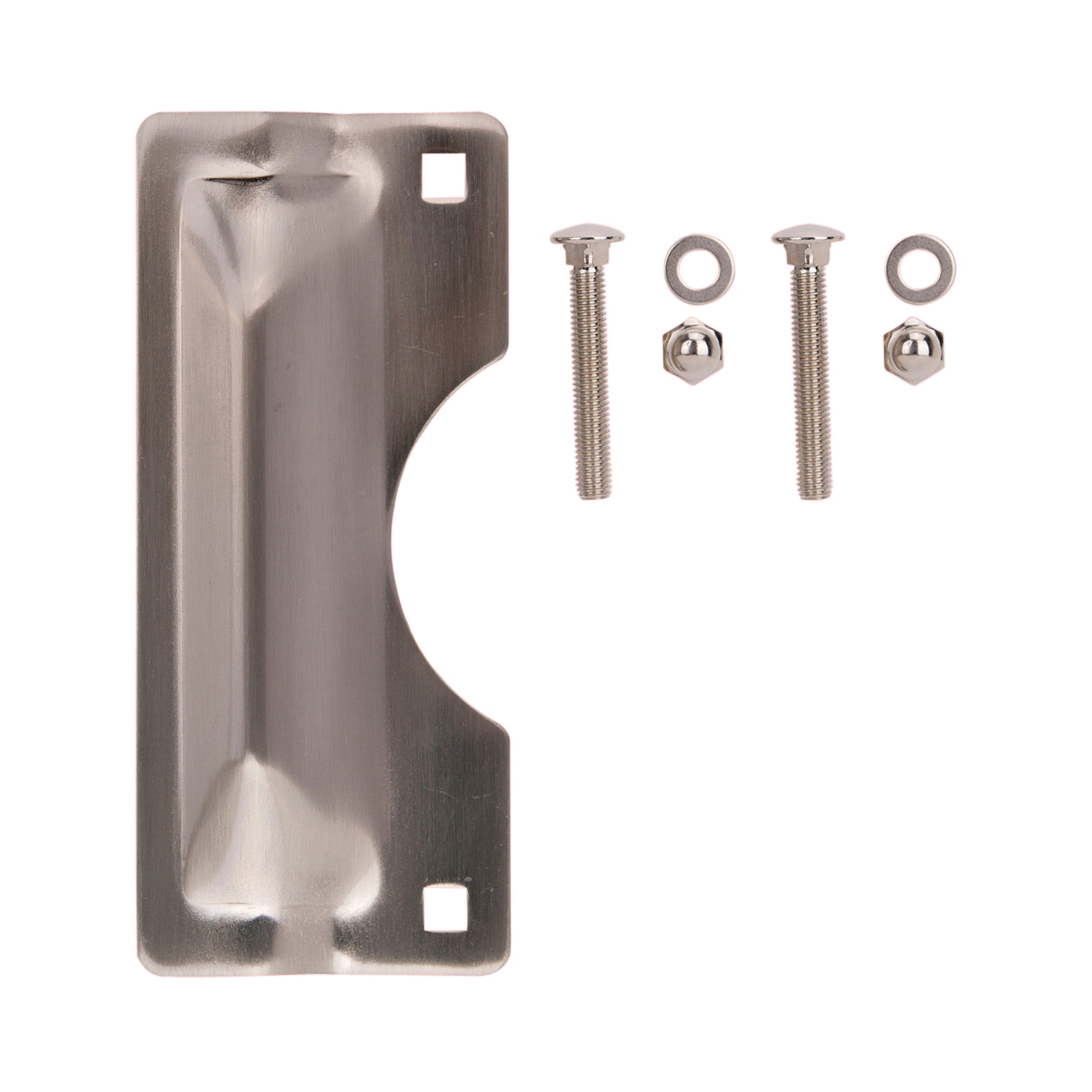 Picture of ProSource HSH-012BN-PS Latch Guard, Steel, Satin Nickel, 7 in H, 3 in W