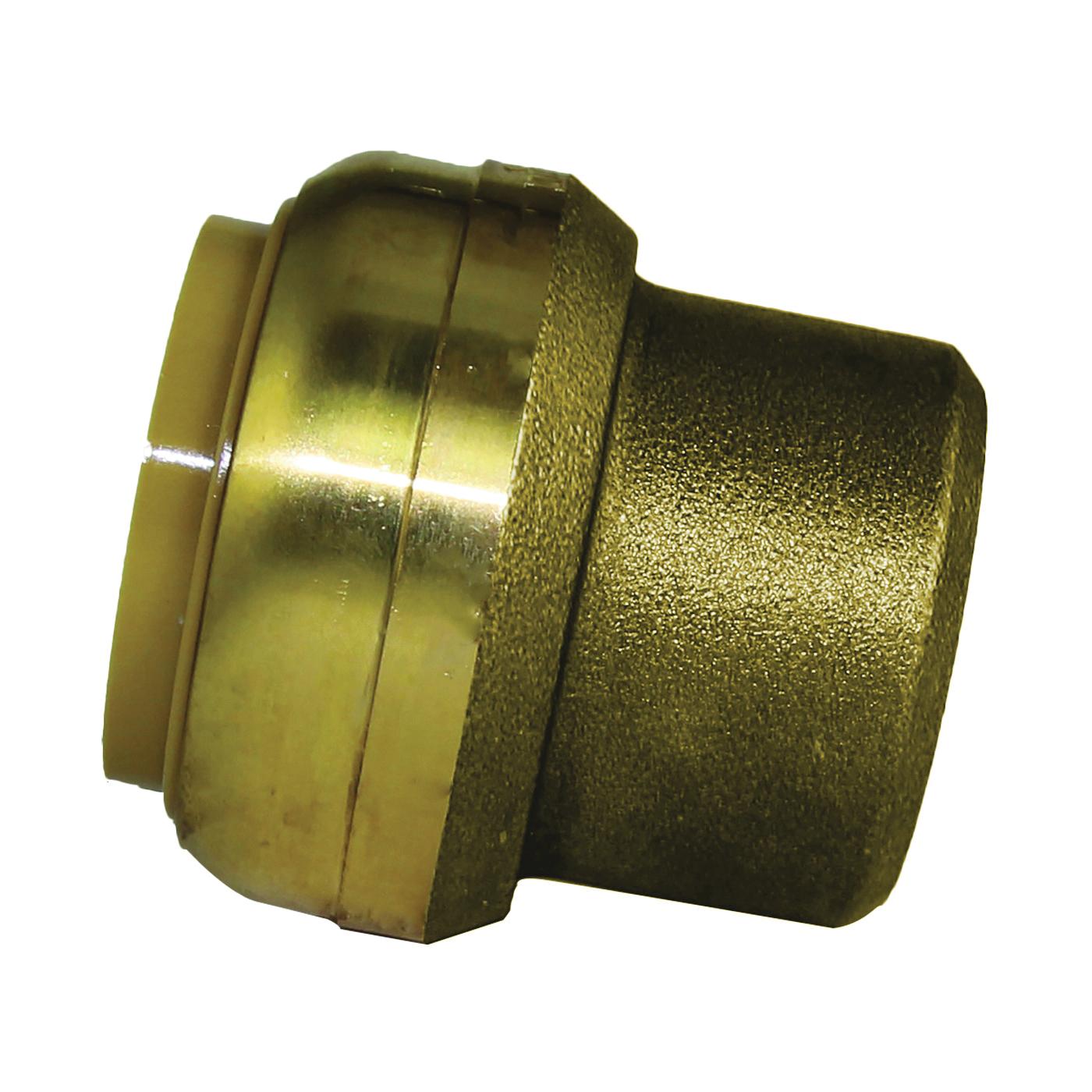 Picture of SharkBite U520LFA End Cap, 1 in, Brass, Chrome, 200 psi Pressure