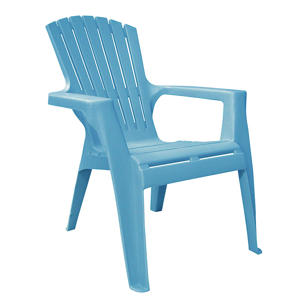 Picture of Adams 8460-21-3731 Kids Adirondack Chair, 18-1/4 in W, 23 in D, 23-3/4 in H, Polypropylene Frame, Pool Blue Frame