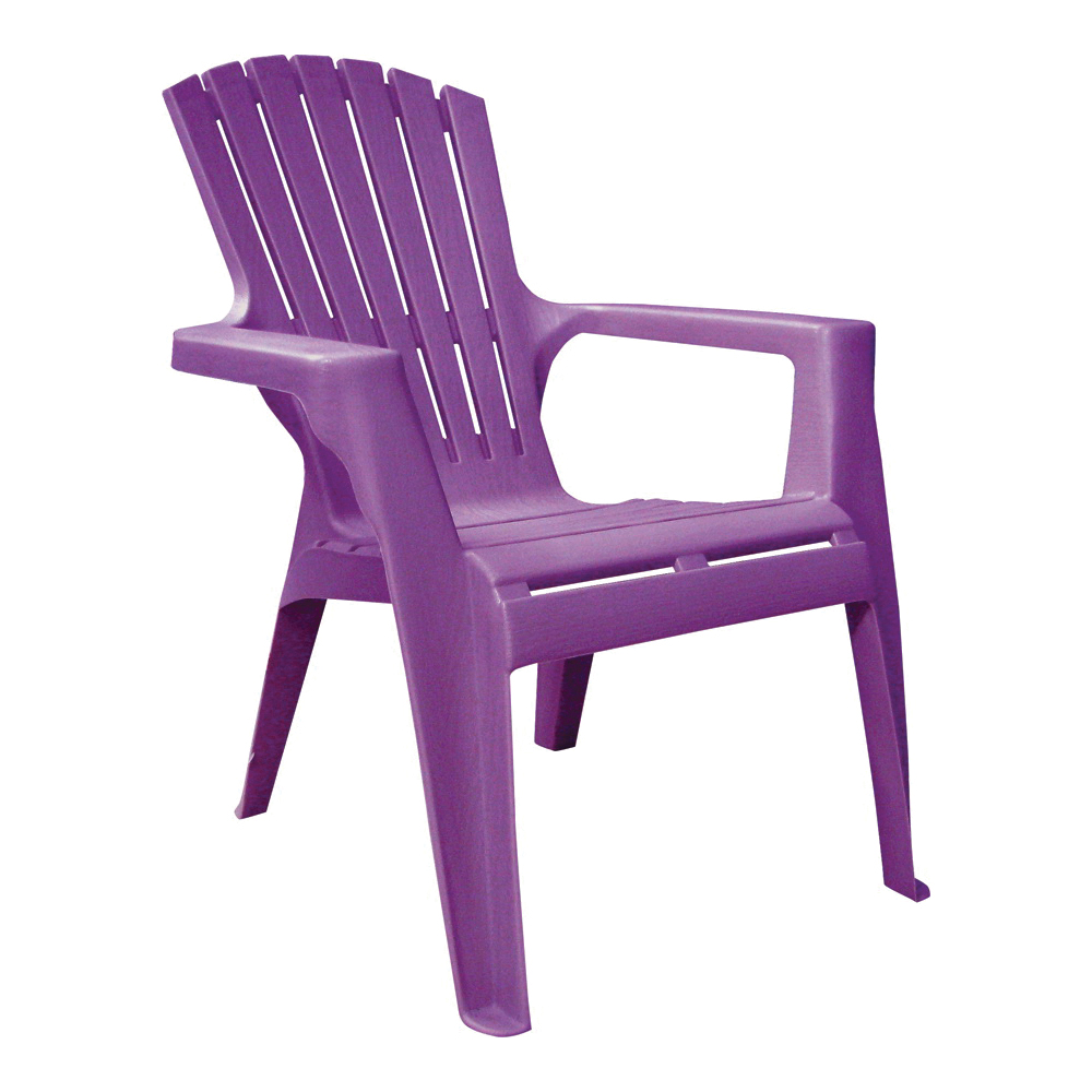 Picture of Adams 8460-12-3931 Kids Adirondack Chair, 18-1/4 in W, 23 in D, 23-3/4 in H, Polypropylene Frame