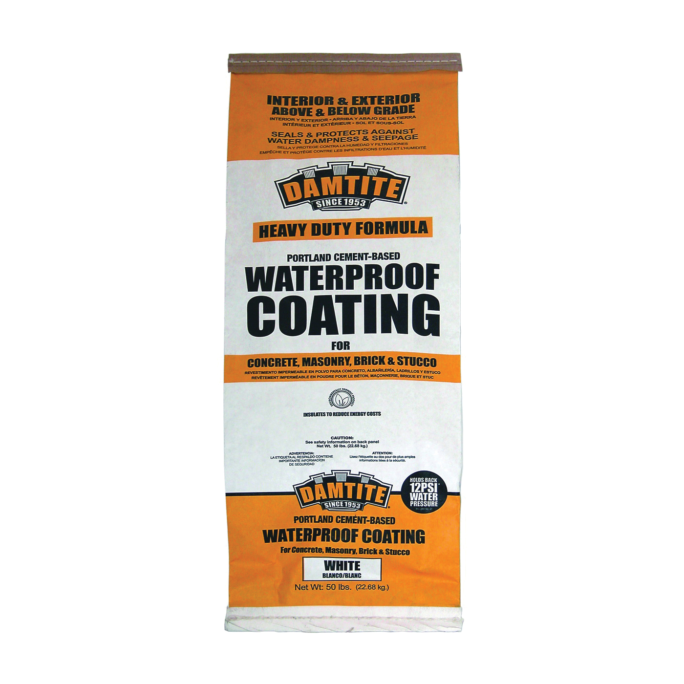 Picture of DAMTITE 01551/01501 Foundation Coating, White, Powder, 50 lb Package, Bag