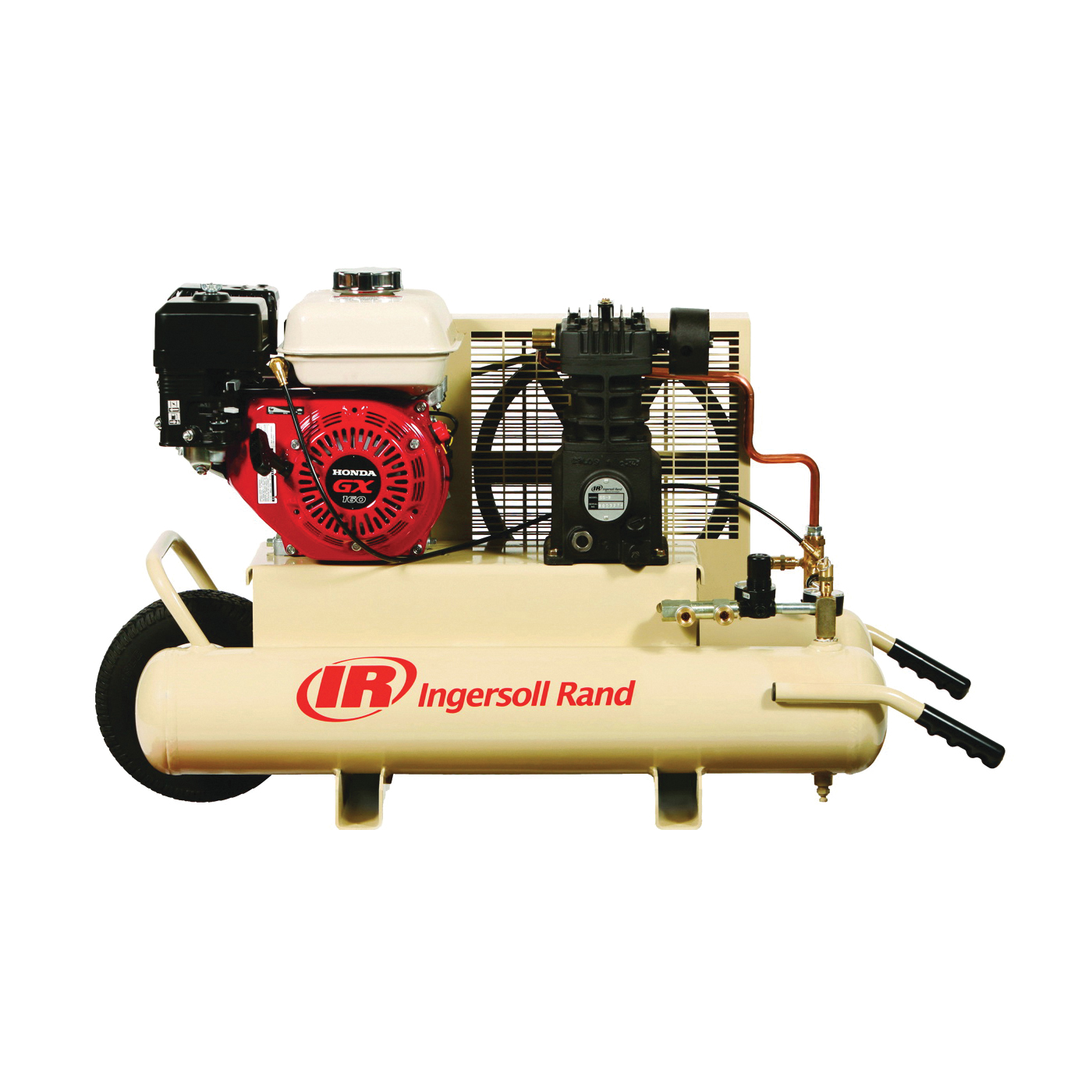 Picture of Ingersoll Rand SS3J5.5GH-WB Small Portable Air Compressor, 8 gal Tank, 5 hp, 135 psi Pressure, 1 -Stage, 11 cfm Air