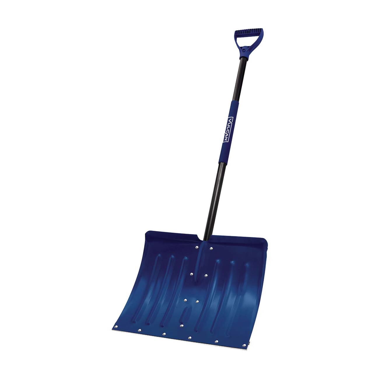 Picture of Vulcan 34634 Snow Shovel with Sleeve, 18 in L Blade, Aluminum Blade, Steel Handle