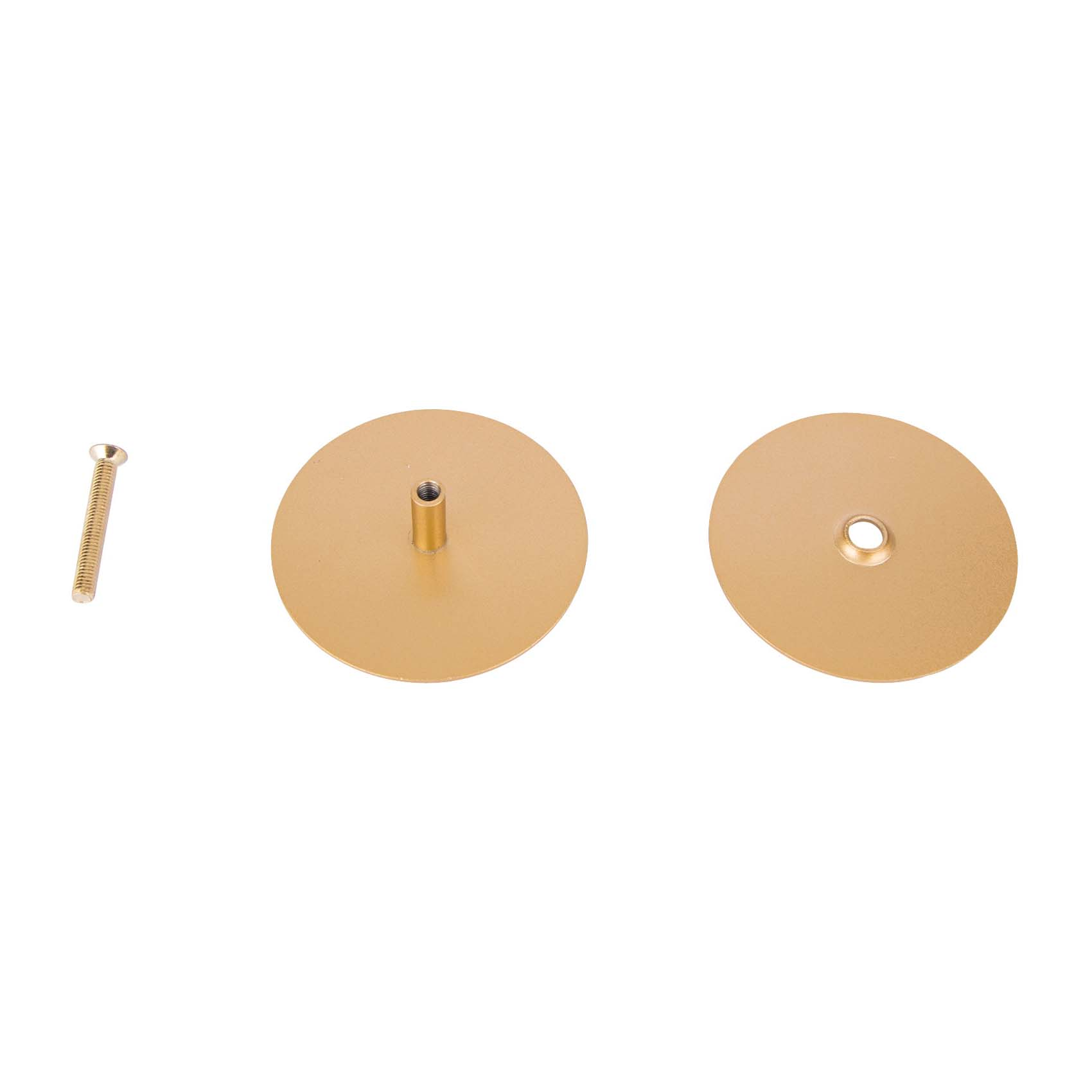 Picture of ProSource HSH-021-PS Hole Cover Plate, Steel, Polished Brass, For: 1-3/8 to 2 in Thick Doors