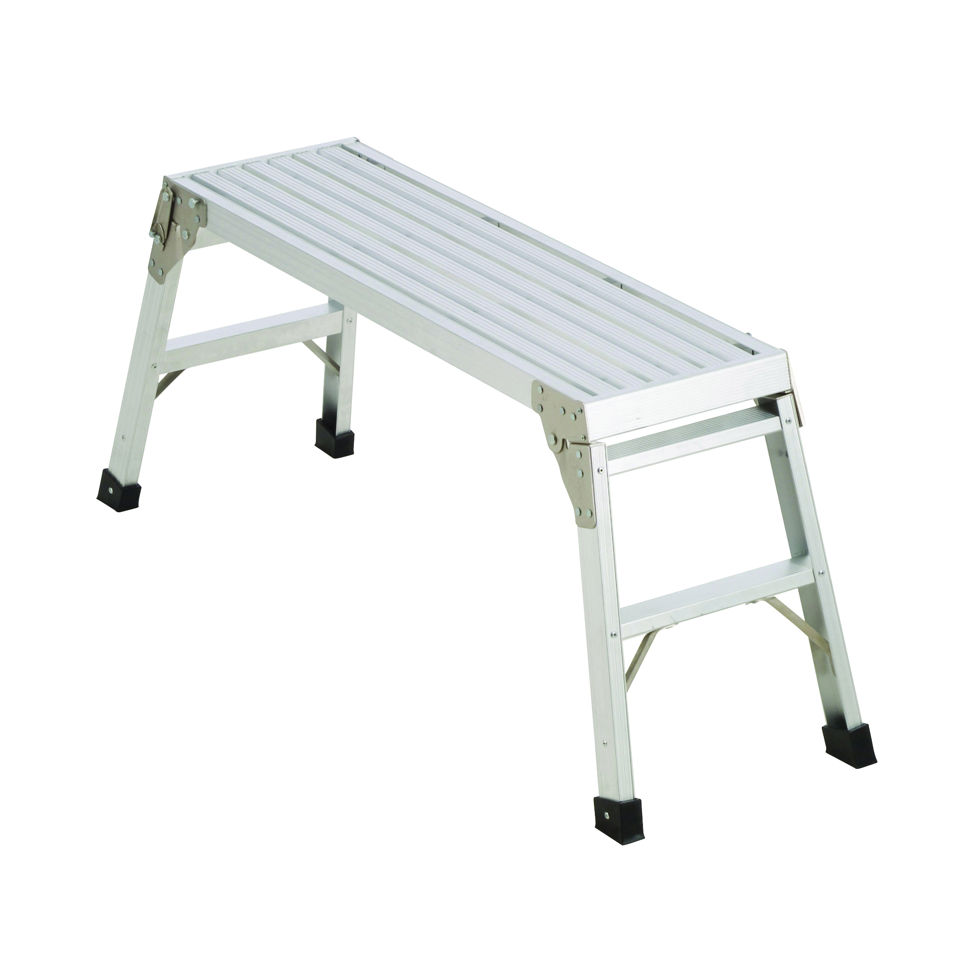 Picture of WERNER AP-20-MP6 Platform Work, 12 in L, 39-1/2 in W, Aluminum, Silver