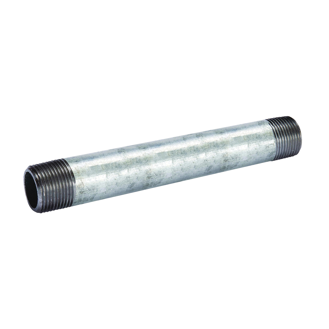 Picture of B & K 570-120BC Pipe Nipple, 3 in, Threaded, Galvanized Steel, SCH 40 Schedule, 12 in L