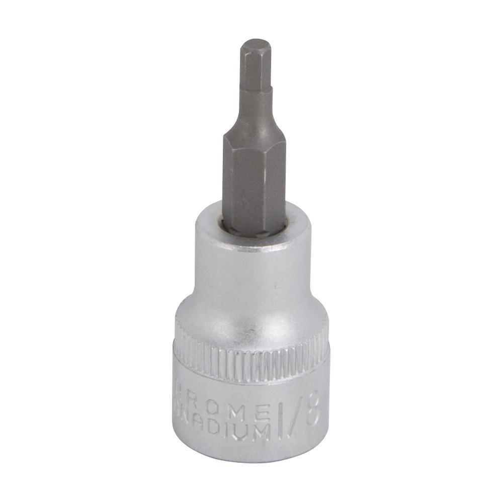 Picture of Vulcan 3506005420 Fractional Hex Bit Socket, 1/8 in Tip, 3/8 in Drive, Chrome Vanadium