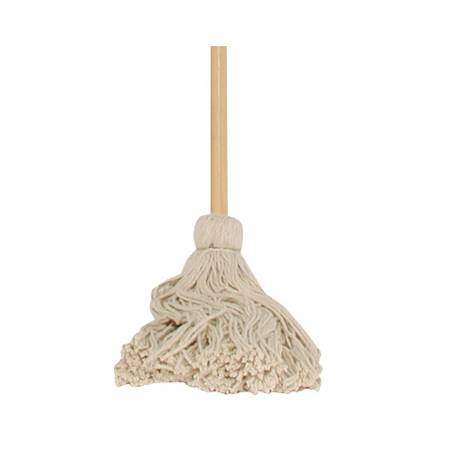 Picture of Chickasaw 00306 Deck Mop with Hanger, 16 oz Headband, 48 in L, Cotton/Synthetic Mop Head, Metal Handle
