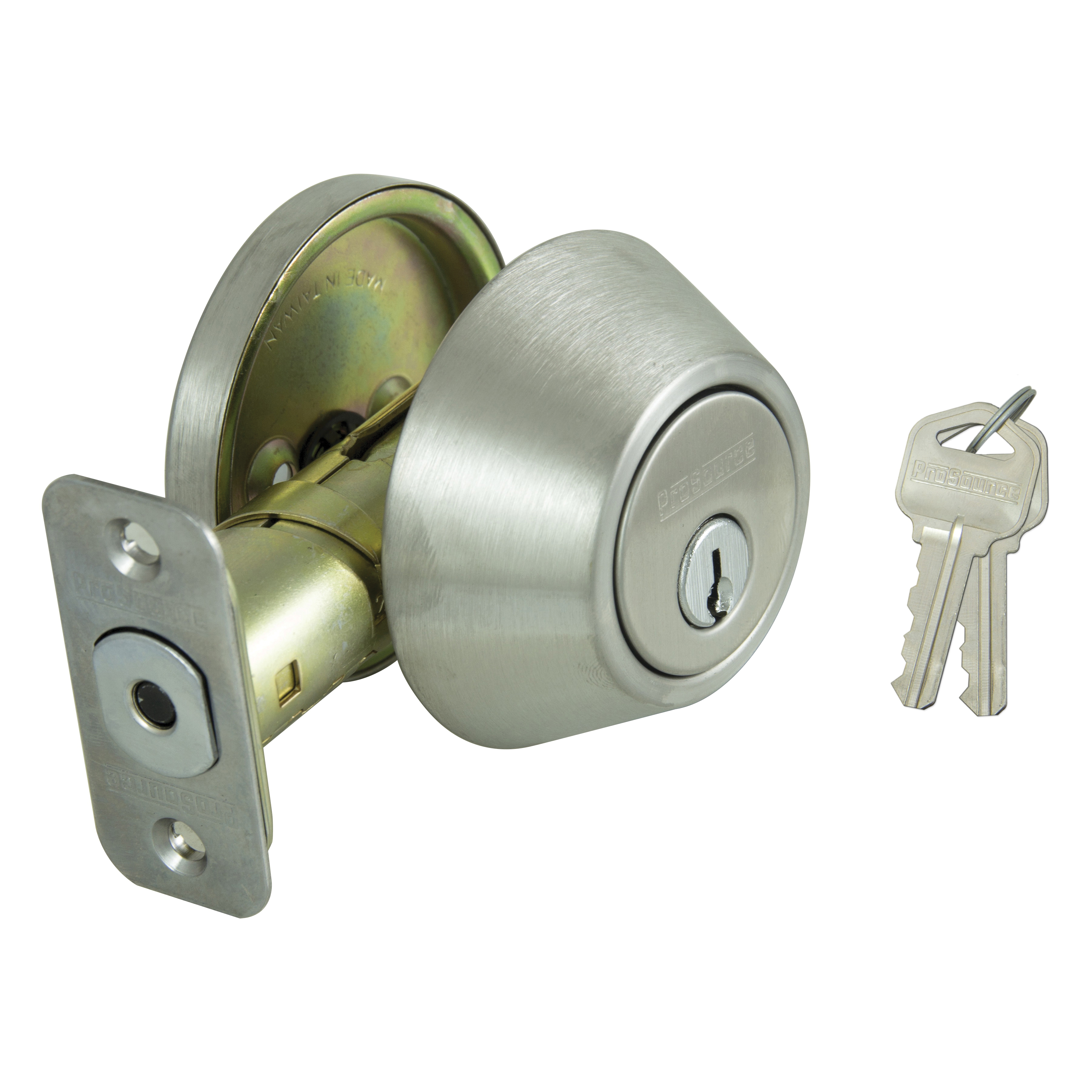 Picture of ProSource D261-RU5V Deadbolt, Stainless Steel, 2-3/8 to 2-3/4 in Backset