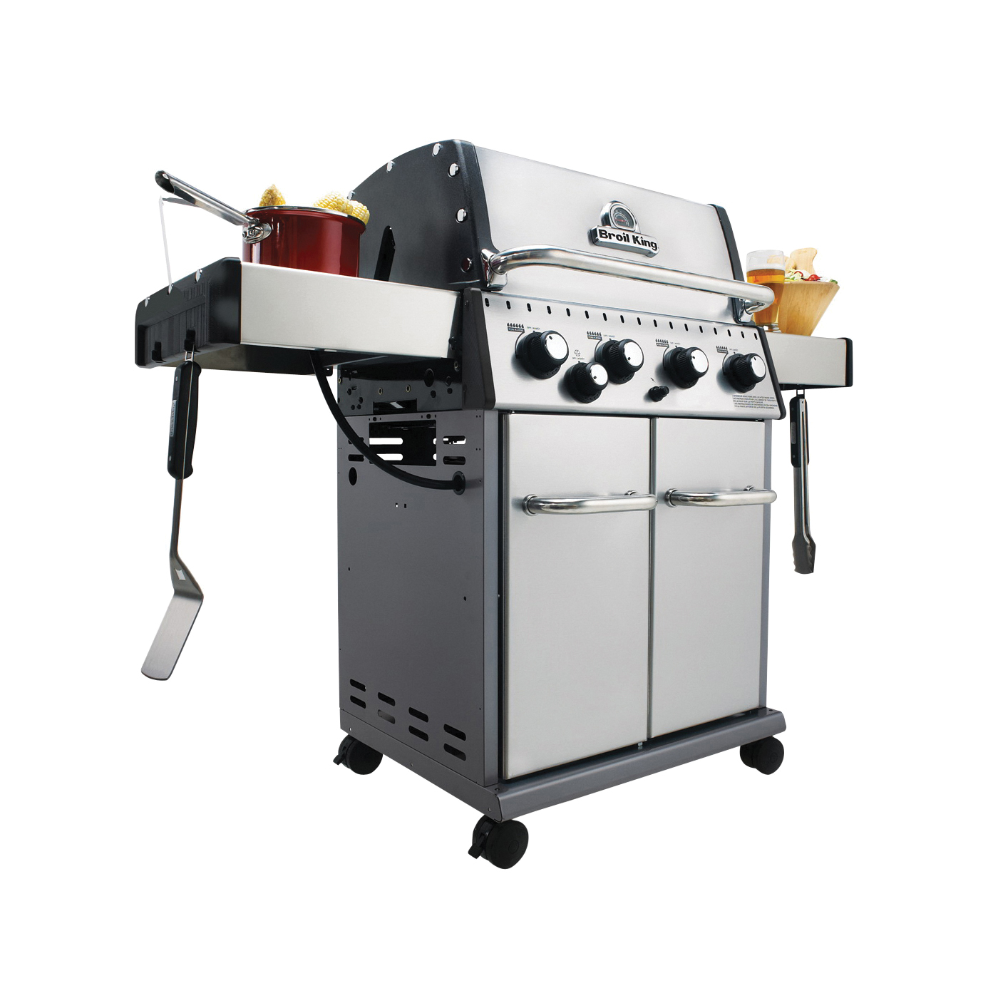 Picture of Broil King Baron 922564 Gas Grill, 40000 Btu/hr BTU, Liquid Propane, 4 -Burner, 444 sq-in Primary Cooking Surface