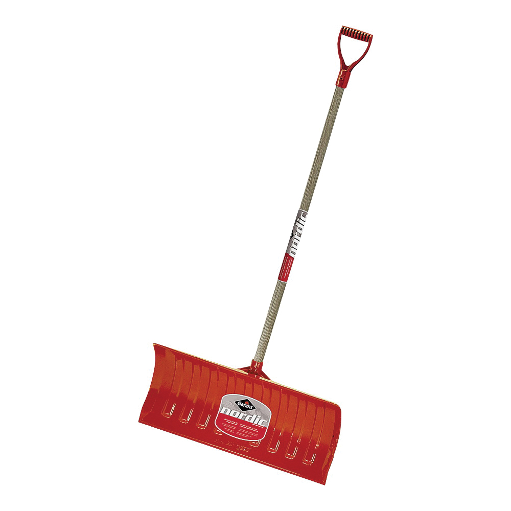 Picture of GARANT NPP26KDU Snow Pusher, 26 in W Blade, Polyethylene Blade, Wood Handle, D-Shaped Handle, 46-1/4 in L Handle