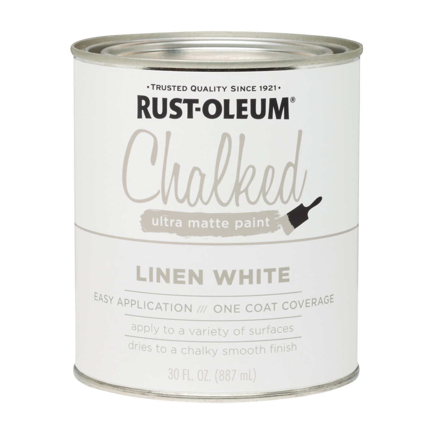 Picture of RUST-OLEUM Chalked 285140 Chalked Paint, Ultra Matte, Linen White, 30 oz, Pint
