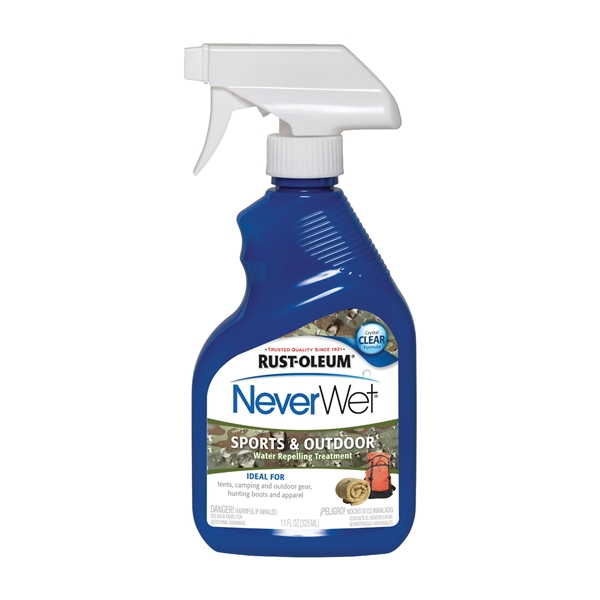 Picture of RUST-OLEUM NeverWet 283829 Water Repelling Treatment, Liquid, Clear, 11 oz, Spray Bottle