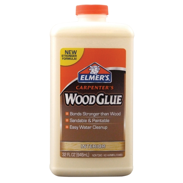 Picture of Elmers Carpenter's E7040 Wood Glue, Yellow, 1 qt Package, Bottle