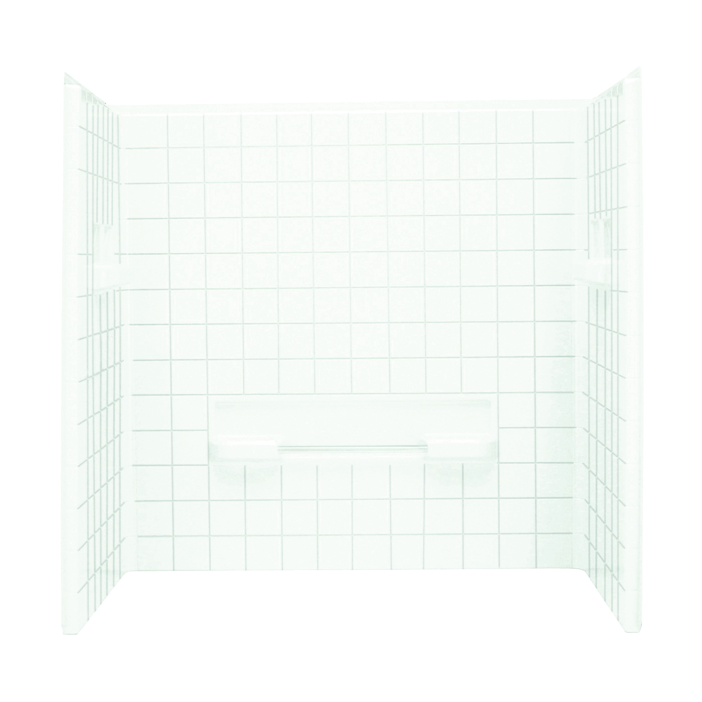 Picture of Sterling Advantage 62044100-0 Shower Wall Set, 35-1/4 in W, Vikrell, White, Swirl Gloss