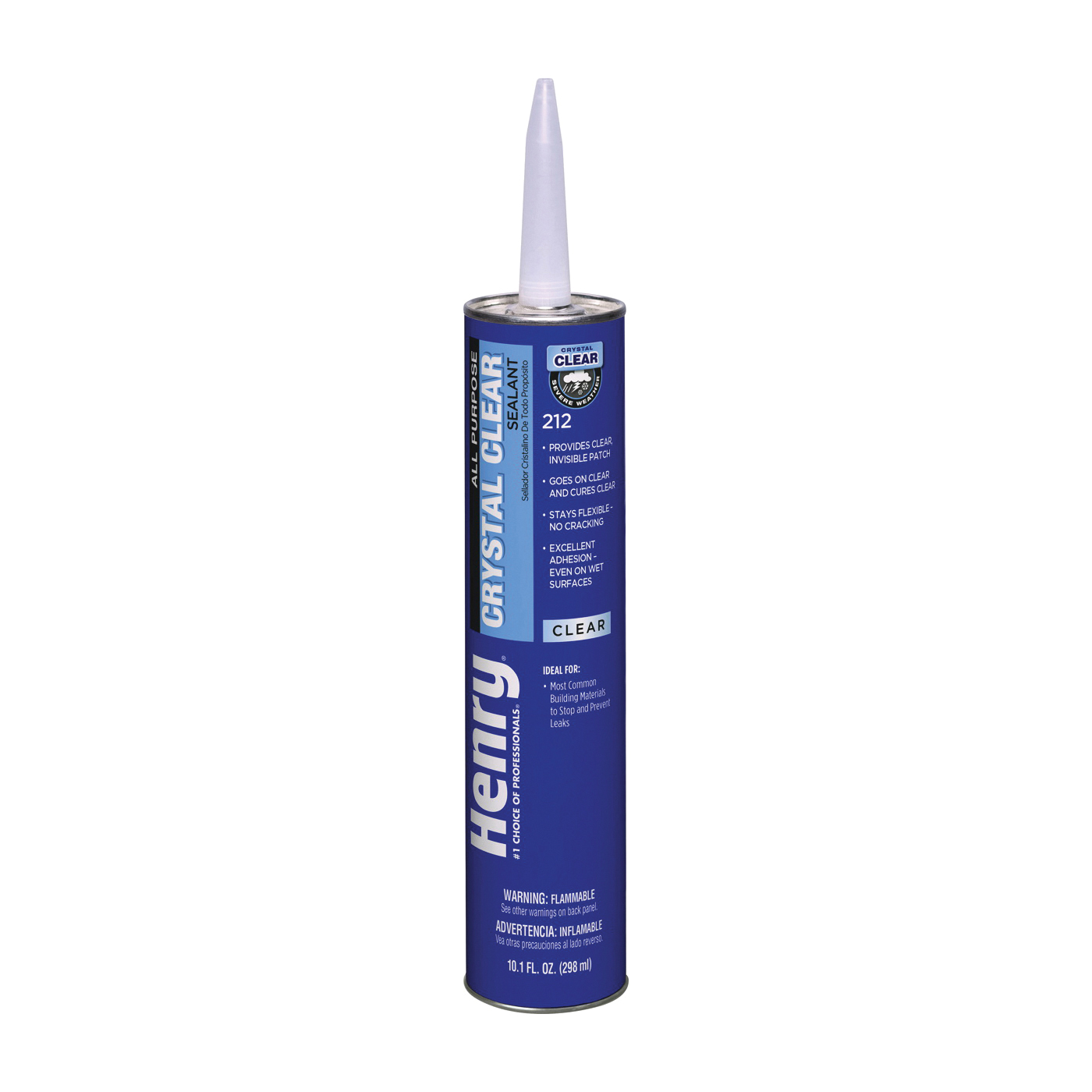 Picture of Henry Wet Patch 212 Series HE212202 All-Purpose Sealant, Crystal Clear, Liquid, 10.1 oz Package, Cartridge