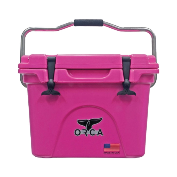 Picture of ORCA ORCP020 Cooler, 20 qt Cooler, Pink, Up to 10 days Ice Retention