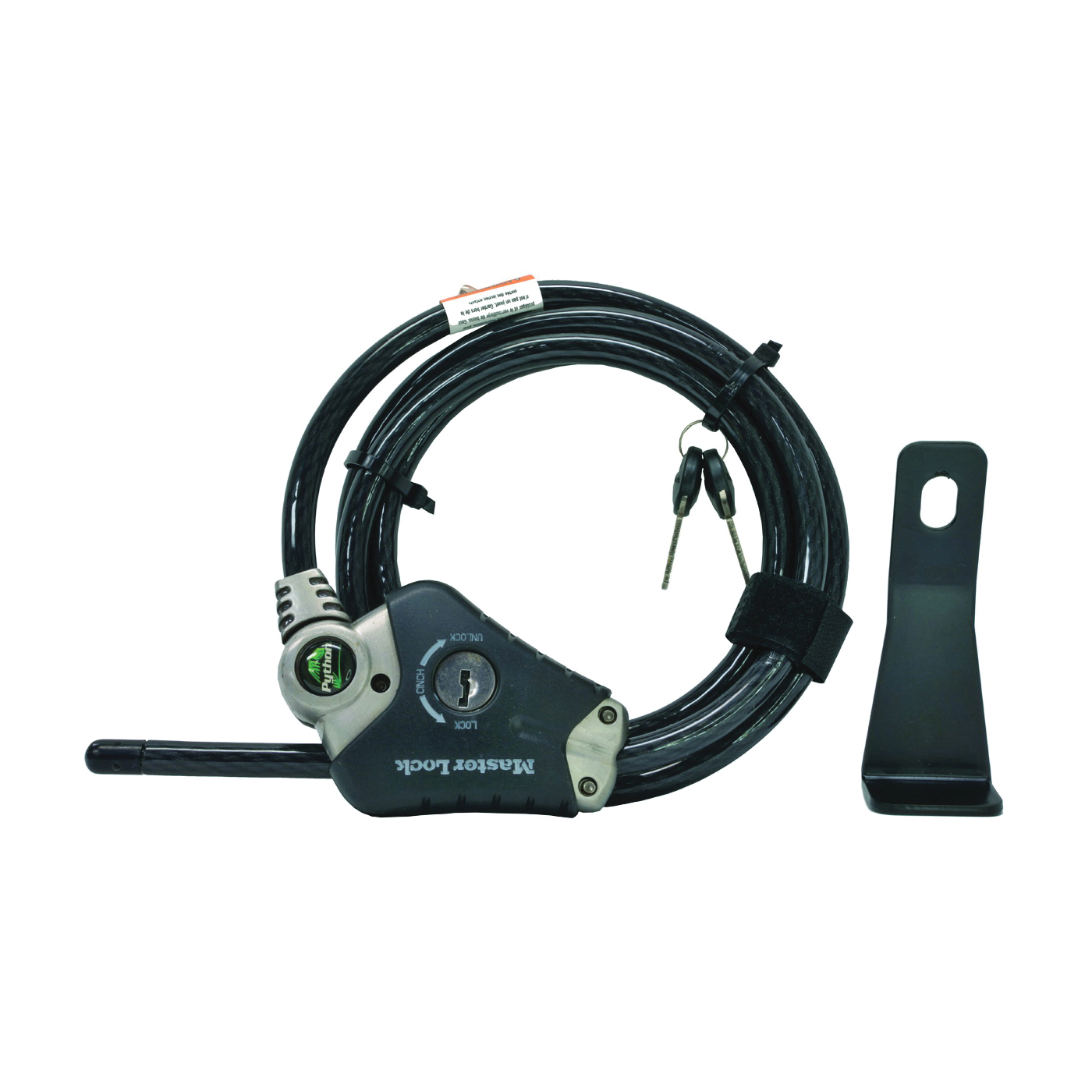 Picture of ORCA ORCPYC Master Lock Cable, 6 ft L Cable, Steel Cable
