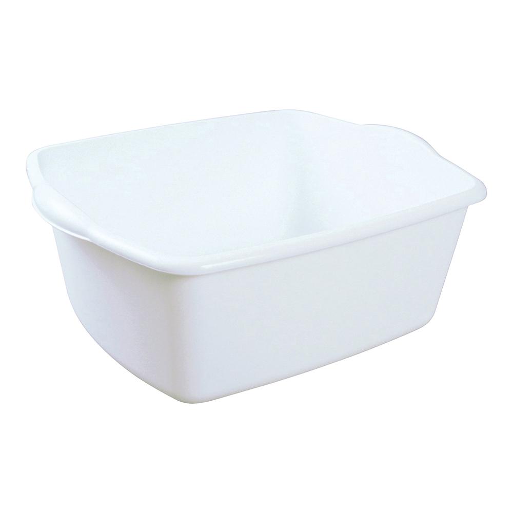 Picture of Sterilite 06588012 Dish Pan, 18 qt Volume, 17-1/2 in L, 14-1/4 in W, 7 in H, Plastic, White